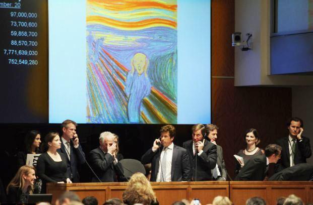 Slika Krik (The Scream) prodata je na aukciji Sadebi (Sotheby's) za 119,92 miliona dolara