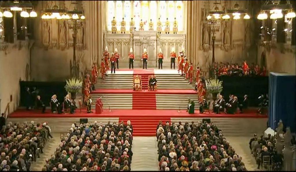Kraljica Elizabeta i njen suprug princ Filip (Westminster Hall)
