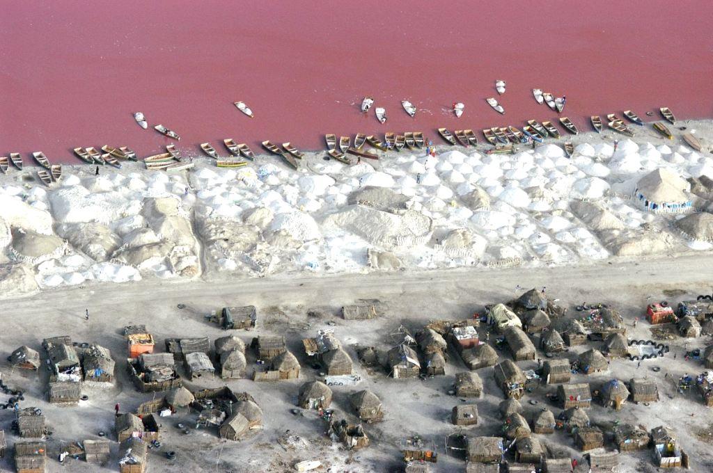 Pogled na jezero Retba u Senegalu