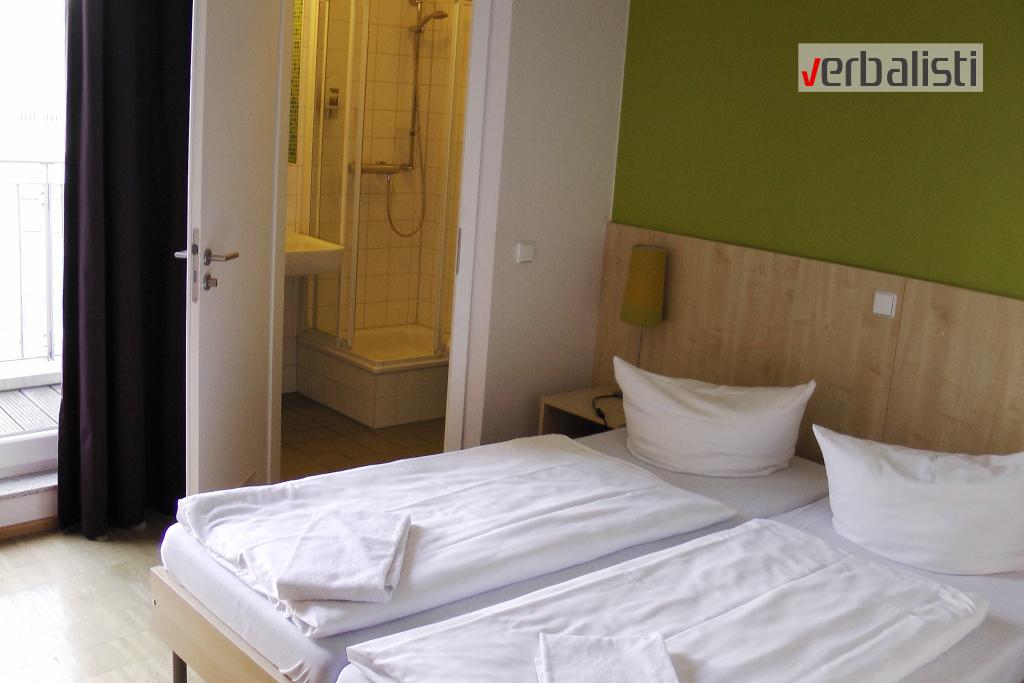 Izgled sobe u hostelu Meininger