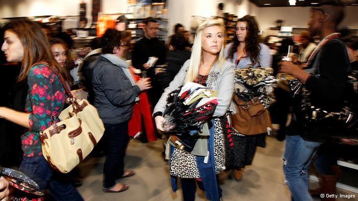 Online nemacki, video tema Das Geschäft mit Billig-Kleidung