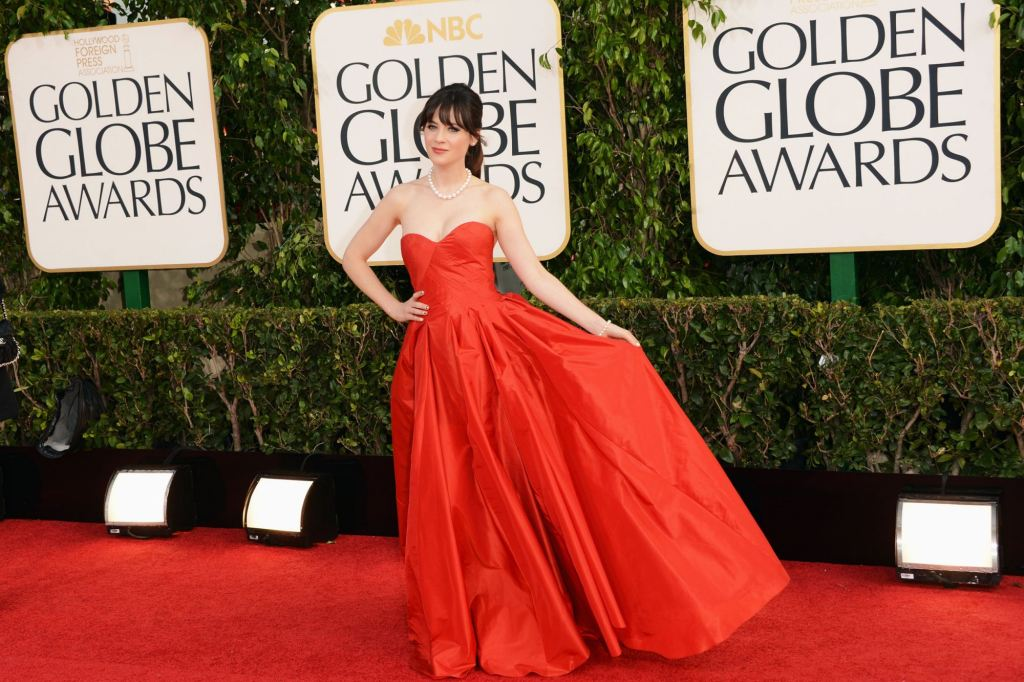 Zooey Deschanel najbolje odevena, Golden Globe Awards 2013