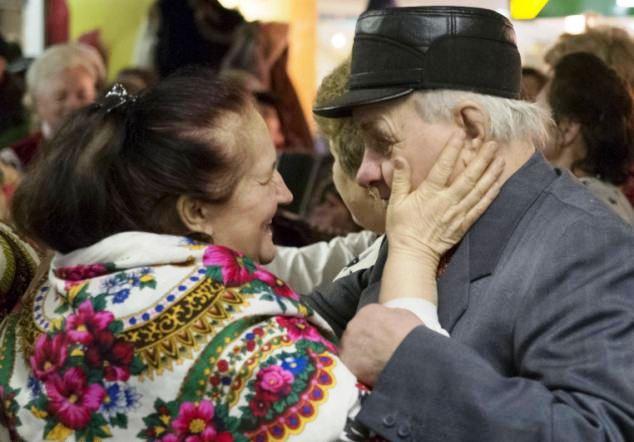 Zaljubljeni par, penzioneri u Ukrajini