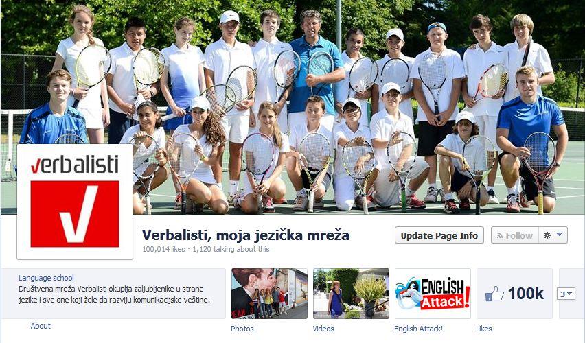 Facebook poslovna strana Verbalista