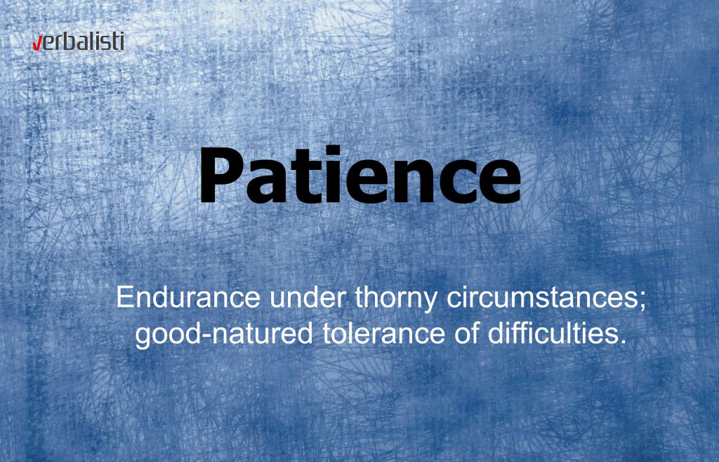 Definicija za englesku rec Patience