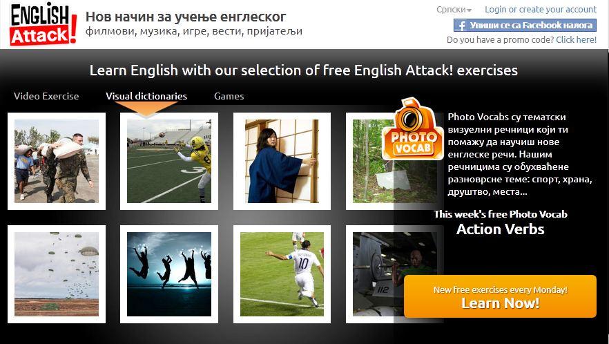 Vezbe za ucenje engleskih reci, Action verbs
