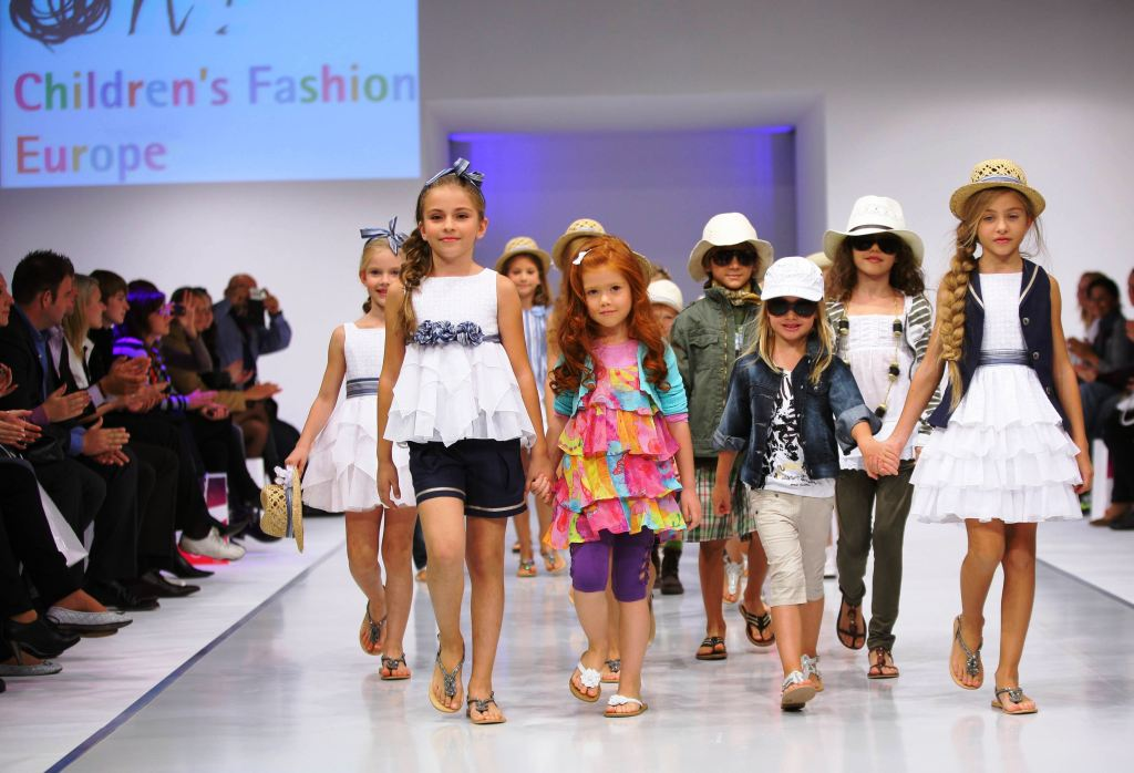 Children on the catwalk
