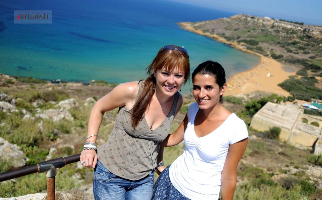Polaznice jezicke mreze Verbalisti, Gozo, Malta