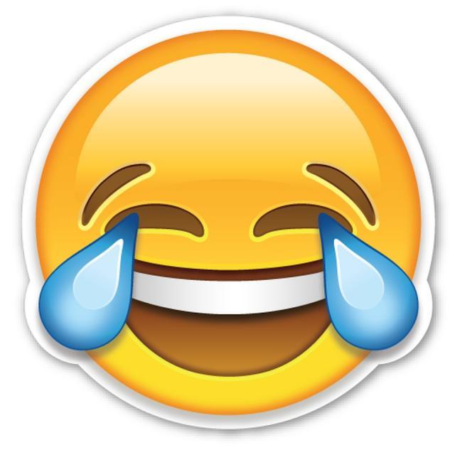 Rec godine emotikon lice koje place od smeha
