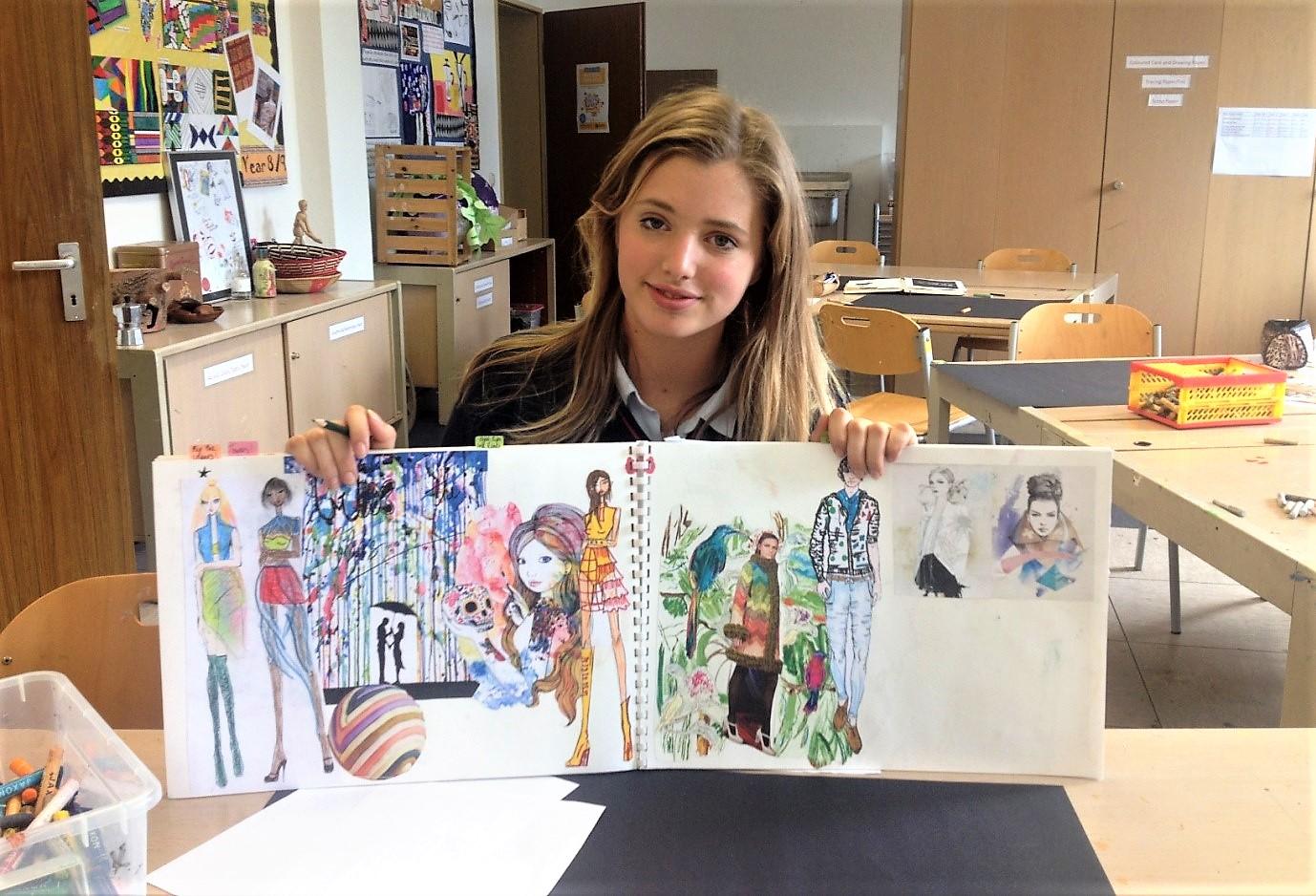 Polaznica jezičke mreže Maria redovno pohađa letnji pripremni program u školi